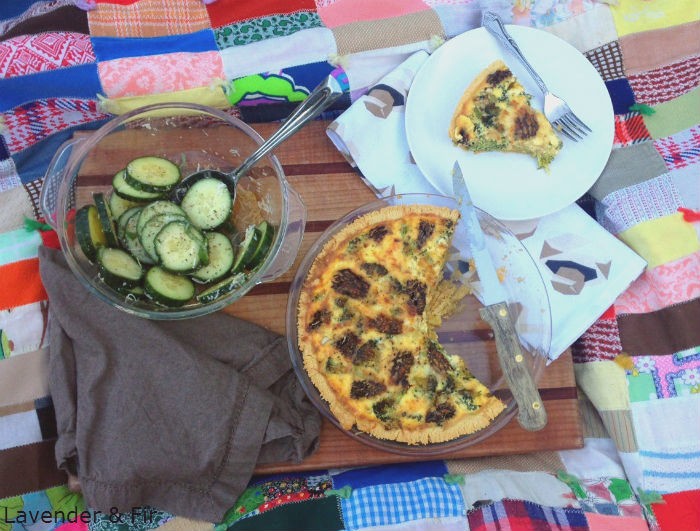 Morel Quiche with Broccoli and Leeks